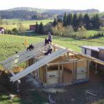 weiter geht`s mit dem Dach